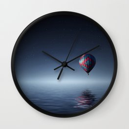 Hot Air Balloon Reflection Wall Clock