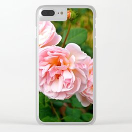 Pink Flower Bunch Clear iPhone Case