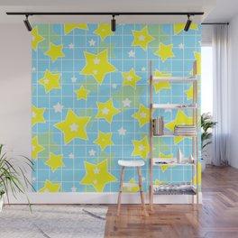 #Yellow #blue #stars Wall Mural