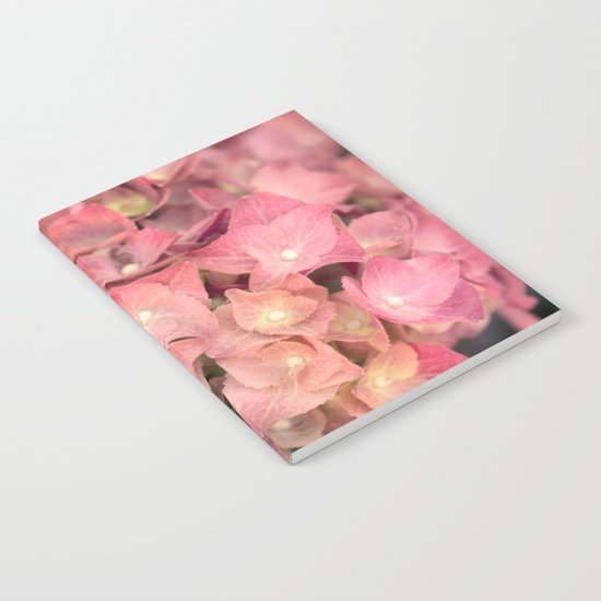 Pink hydrangea in LOVE - Flower floral Notebook