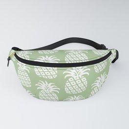 Mid Century Modern Pineapple Pattern Sage Green Fanny Pack