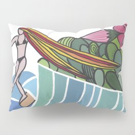 flowers and sea Pillow Sham