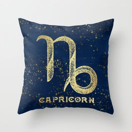 Capricorn Zodiac Sign Throw Pillow