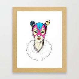 Asian Superheroine Framed Art Print