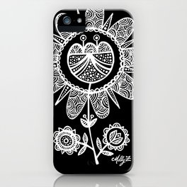 White Flower 116 iPhone Case