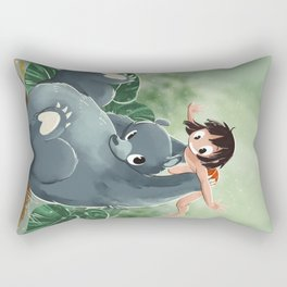 Mowgli and Baloo Rectangular Pillow