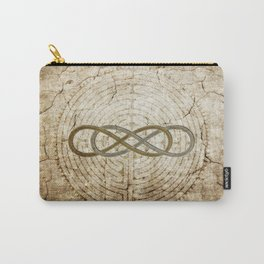 Double Infinity Silver Gold antique Carry-All Pouch