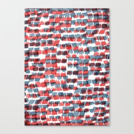 Red and Blue short brushstrokes - Sarah Bagshaw Canvas Print