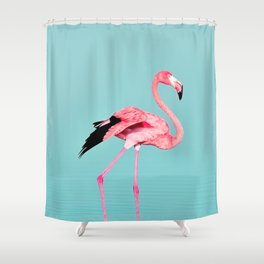 Flamingo Bird Print Shower Curtain