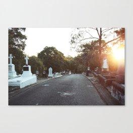 Cemetery Drive Canvas Print
