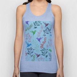 Watercolor Floral & Birds III Unisex Tank Top