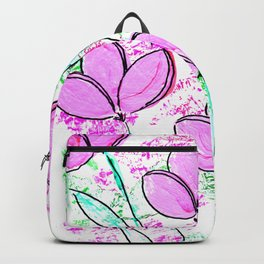 Spring pretty girl flowers Backpack