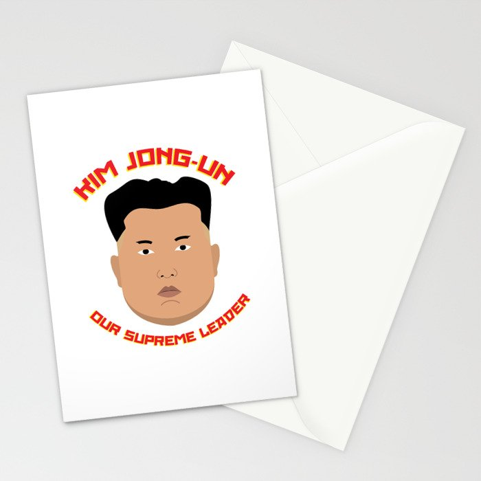 Kim Jong-Un Stationery Cards