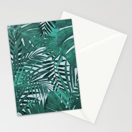 Sketchy Tropical Leaves Pattern Stationery Cards