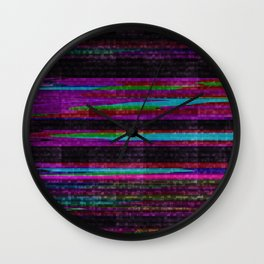 TV Noise Abstract Pattern Wall Clock