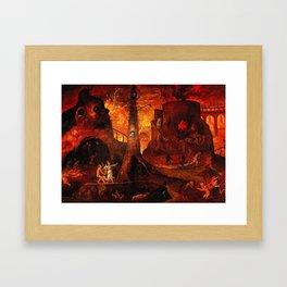 Red Hellish Landscape Framed Art Print