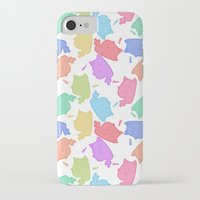 mew iPhone & iPod Cases featuring Mew-Boo by Lixxie Berry Illustration