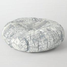 Edinburgh toile indigo pearl Floor Pillow
