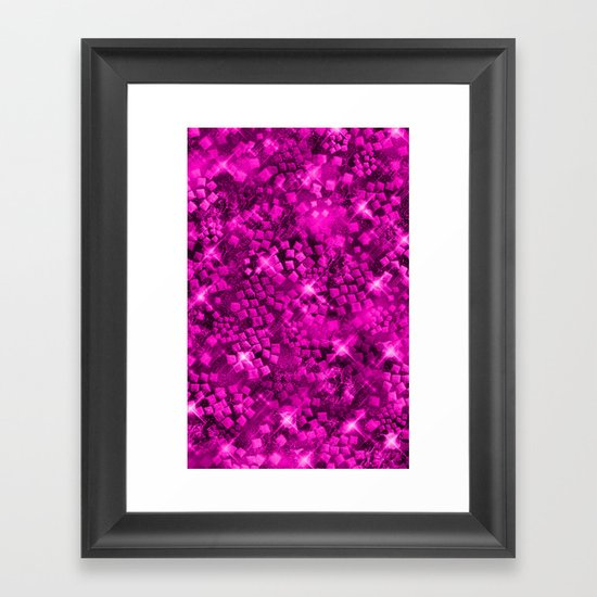 Dazzling Series (Pink) Framed Art Print