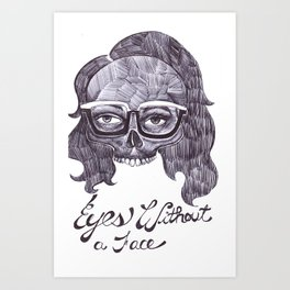 Eyes Without a Face Art Print