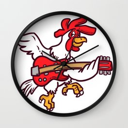 Guitar Rooster Wall Clock