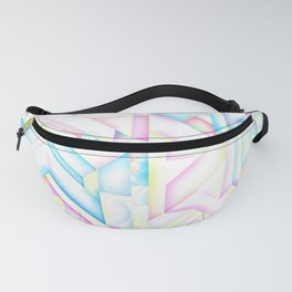 90s Inspired Print // GEOMETRIC PASTEL BRIGHT SHAPES PATTERN GRAPHIC DESIGN Fanny Pack