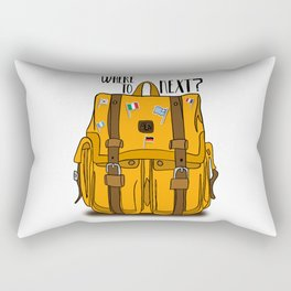 Where to next? (Backpack) Rectangular Pillow