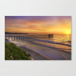 Scripps Pier Sunset Canvas Print