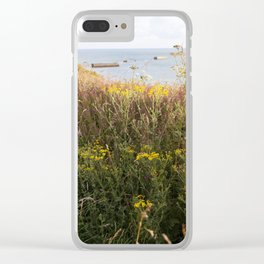 A Lone Reed at Mulberry Harbour Clear iPhone Case