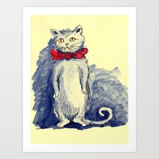 Blue Cat Art Print