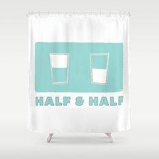 half & half Shower Curtain