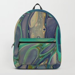 Fluid Abstract - Blue and Purple Backpack