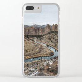 Smith Rock Desert - Wanderlust Nature Photography Clear iPhone Case