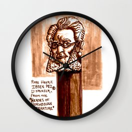 Rare Henrik Ibsen Pez dispenser illustration Wall Clock
