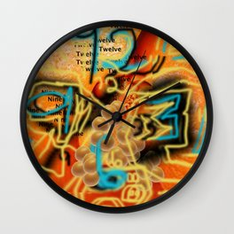 An Orange Clock Pun Wall Clock