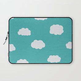 Cartoon Clouds Pattern Laptop Sleeve