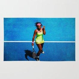 Serena Williams Tennis Celebrating Rug