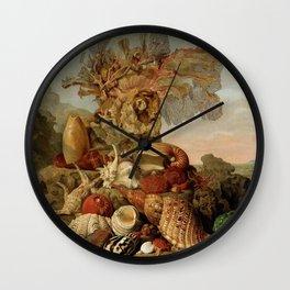 Shells and Marine Plants, Henricus Franciscus Wiertz, 1809 Wall Clock