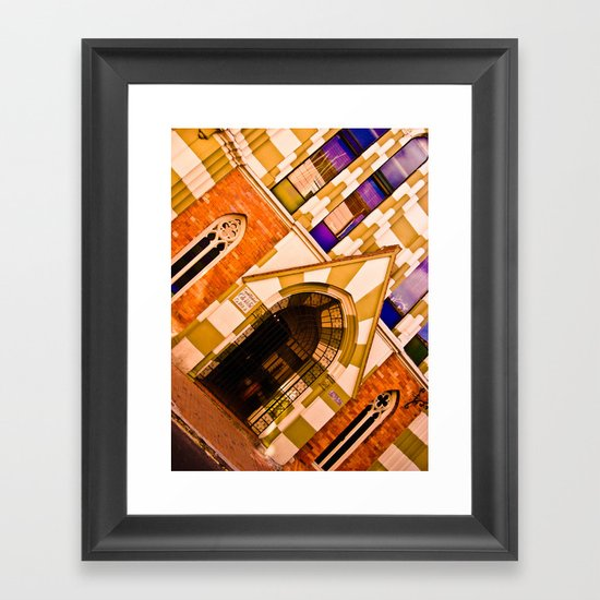 FRONT OF CHURCH Framed Art Print