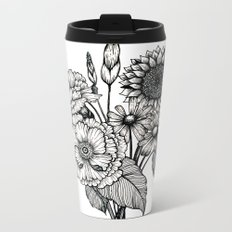 Country Bouquet Metal Travel Mug