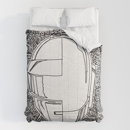 DP RAM abstract line art by melisssne Comforters