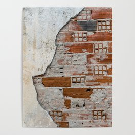 Cracked Facade Poster