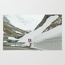 A high Alpine winter road trip Rug