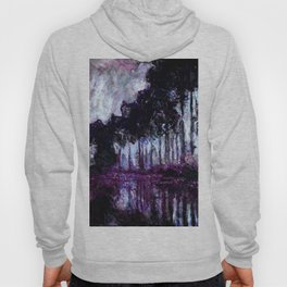 Monet : Poplars Purple Violet Indigo Hoody