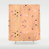 chemistry Shower Curtains featuring NEW WAVE CHEMISTRY  by Vasare Nar