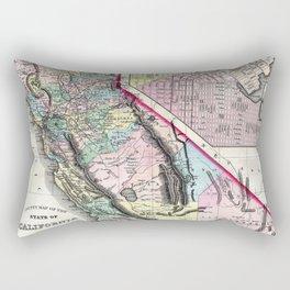 1872 Map of California and San Francisco Rectangular Pillow