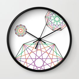 Nonagon Triad Wall Clock