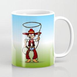 Cowboy with a lasso Coffee Mug