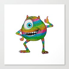 Mike Wazowski fan art by Luna Portnoi Canvas Print