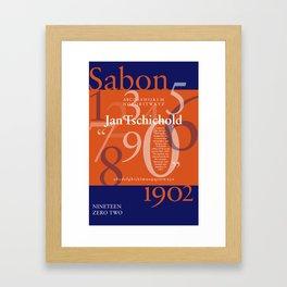 Sabon Typography Poster Framed Art Print